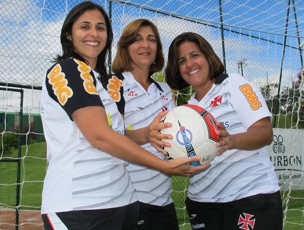 comissão técnica vasco mulheres (Foto: Gustavo Rotstein/Globoesporte.com)