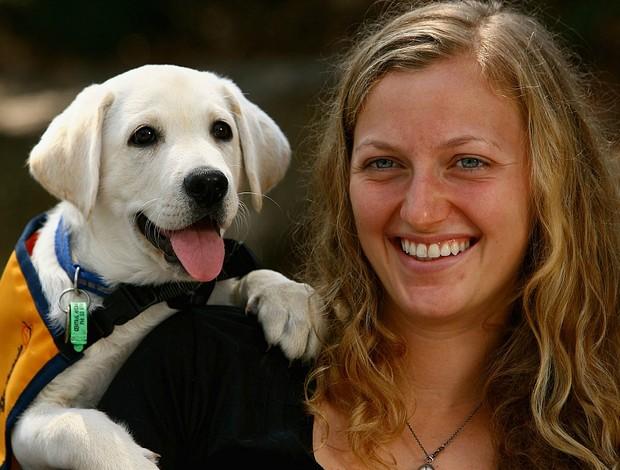 Petra Kvitova tênis Australian Open filhotes (Foto: Getty Images)