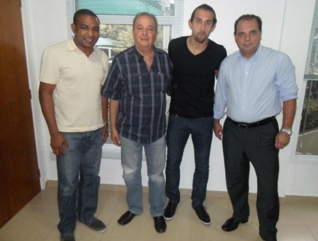 César Sampaio, Roberto Frizzo, Hernán Barcos e Edivaldo Frasson, do Palmeiras (Foto: divulgação / Palmeiras)