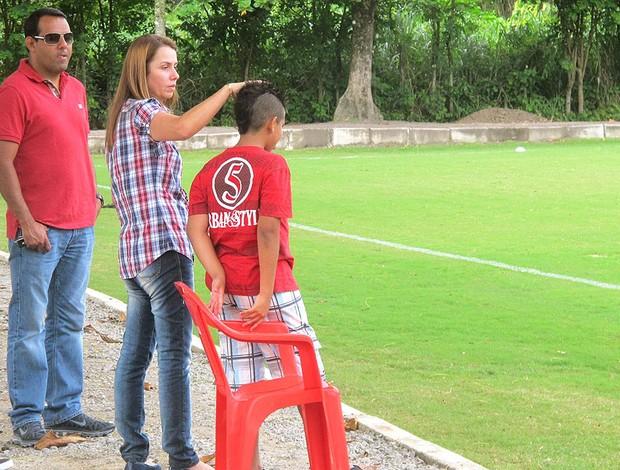 Patrícia Amorim no treino do Flamengo (Foto: Janir Junior / GLOBOESPORTE.COM)