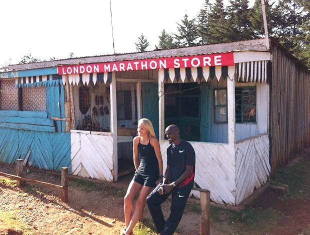 corrida Paula Radcliffe e Mo Farah (Foto: Reprodução / Twitter)