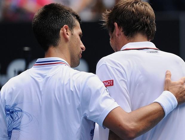 Novak Djokovic tênis Australian Open 3r Nicolas Mahut (Foto: AFP)