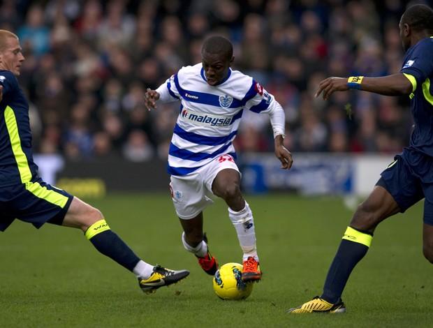 Wright-Phillips, Ben Watson e Emmerson Boyce, Queens Park Rangers x Wigan (Foto: AFP)