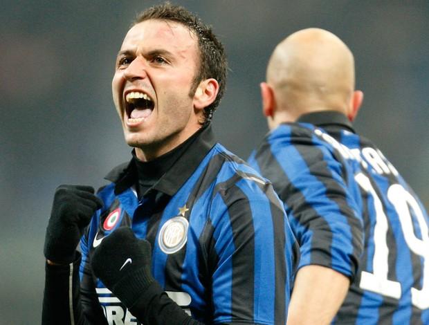 Giampaolo Pazzini gol inter de milão (Foto: AP)