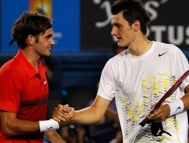 Roger Federer tênis Australian Open oitavas Bernard Tomic (Foto: Reuters)