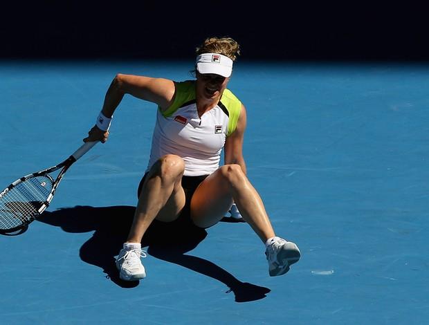 Kim Clijsters tênis Australian Open oitavas (Foto: AP)
