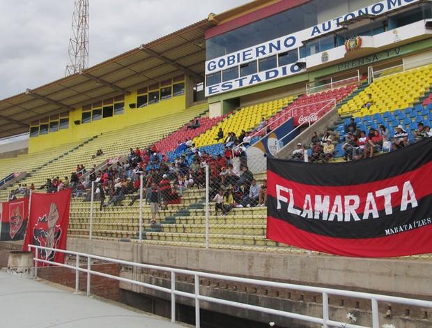 torcida flamengo sucre (Foto: Richard Souza/Globoesporte.com)