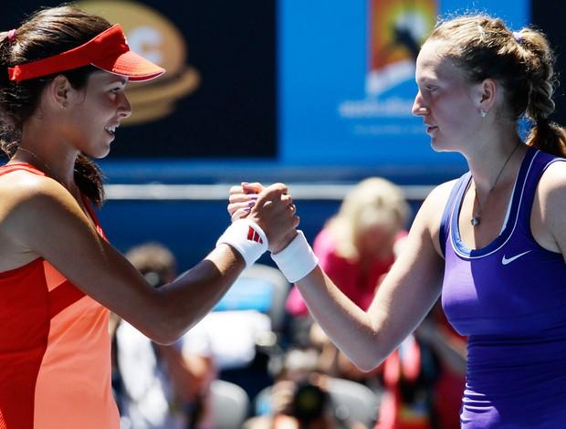 Petra Kvitova tênis Australian Open Ana Ivanovic oitavas (Foto: AP)