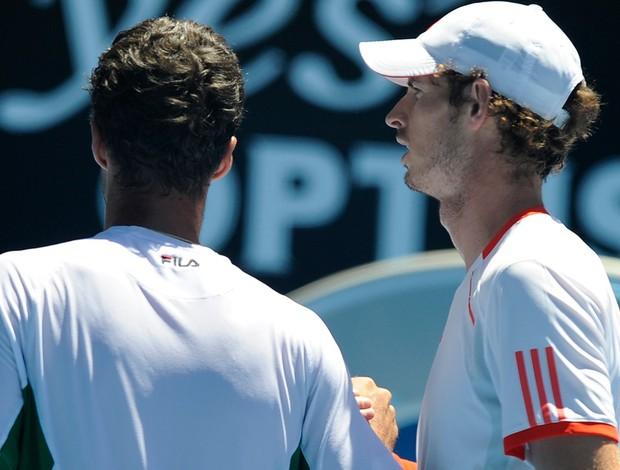 Andy Murray tênis Australian Open oitavas Mikhail Kukushkin (Foto: AP)