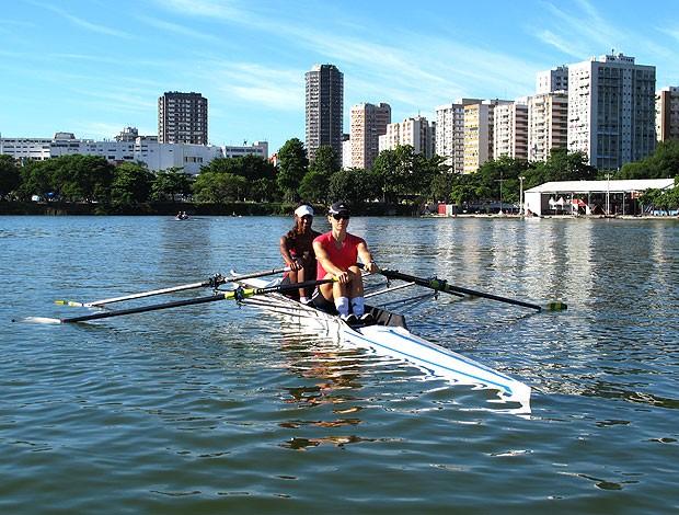 Fabiana Beltrame e Luana Bartholo em treino para Pré-Olímpico (Foto: Lydia Gismondi / GLOBOESPORTE.COM)