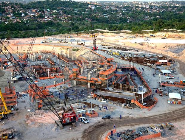 obras na Arena de Pernambuco para a Copa 2014 (Foto: Eduardo Martino / Divulgação)