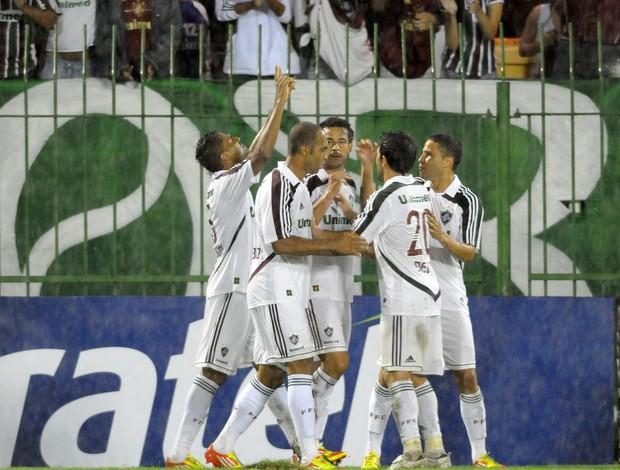 Anderson comemora gol do Fluminense (Foto: Dhavid Normando/Photocamera)