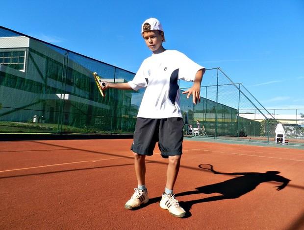 Gabriel Rezende, tenista de Estrela do Sul, MG (Foto: Andréia Candido/GLOBOESPORTE.COM)