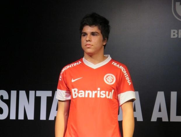 Lançamento da nova camisa do Inter (Foto: Alexandre Alliatti/Globoesporte.com)