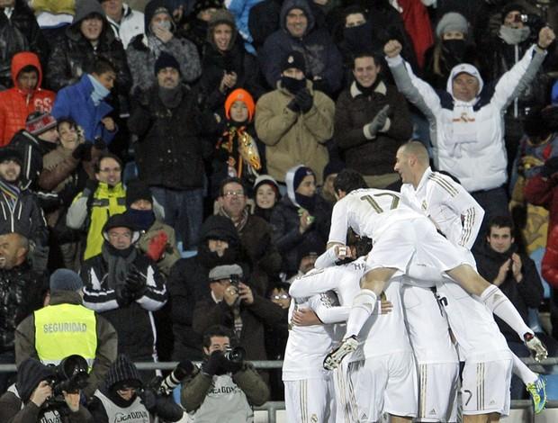 Jogadores gol Real Madrid (Foto: EFE)