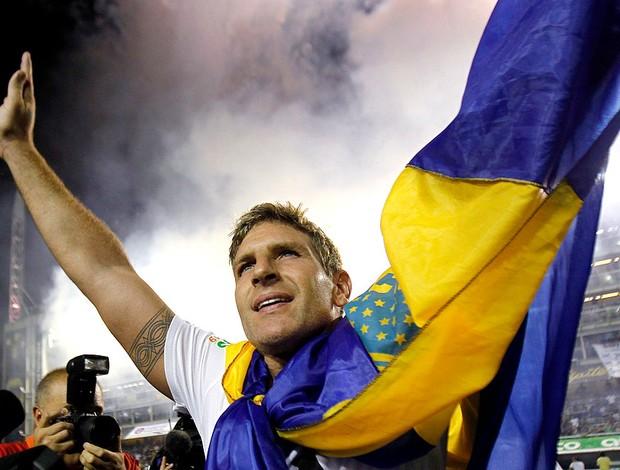 Palermo no jogo de despedida (Foto: Reuters)