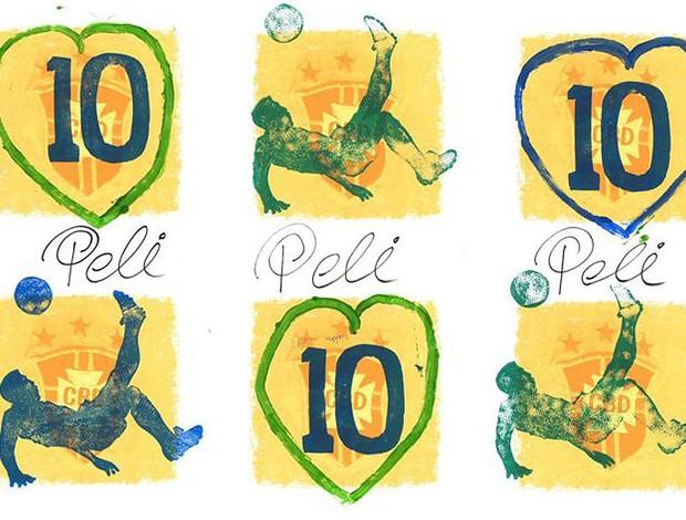 Quadros pintados por Pelé (Foto: Artofpele.com)
