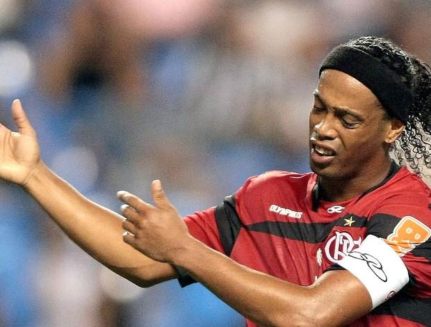 Ronaldinho Gaúcho na partida do Flamengo  (Foto: Bruno Gonzalez / Agência O Globo)