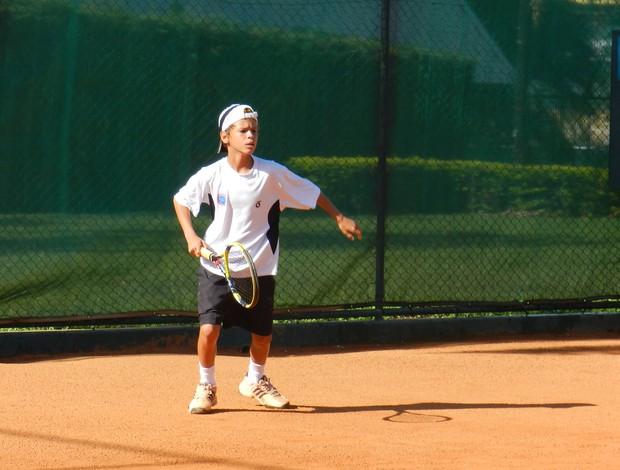 Gabriel Resende, tenista de Estrela do Sul, MG (Foto: Andréia Cândido/GLOBOESPORTE.COM)