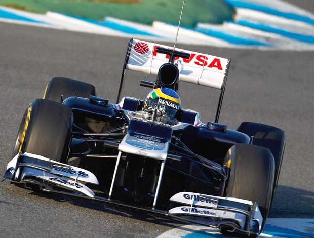F1 TESTE Williams Bruno Senna (Foto: GETTY IMAGES)