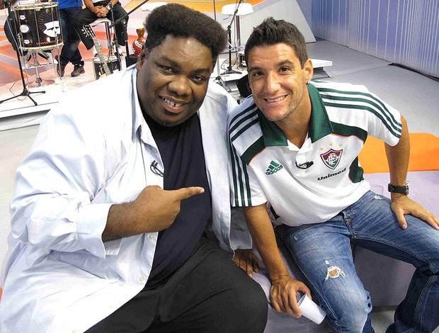 Serjão Loroza e Thiago Neves durante programa (Foto: Rafael Cavalieri / GLOBOESPORTE.COM)