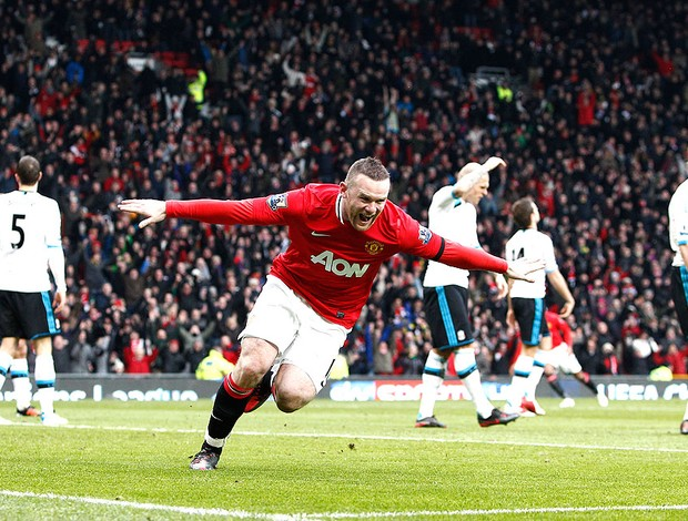 rooney manchester united gol liverpool (Foto: Ag&#234;ncia AP)