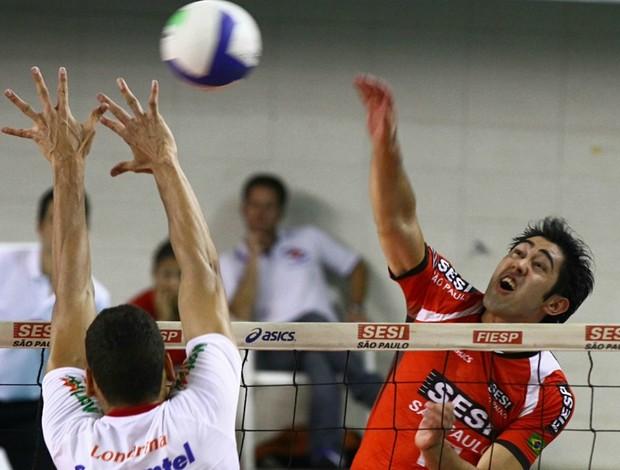 Japa Sesi x Londrina Superliga  (Foto: Luiz Pires / Vipcomm)