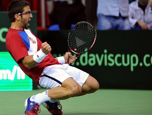Janko Tipsarevic Sérvia Copa Davis (Foto: AFP)
