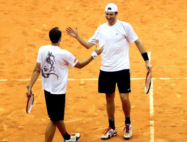 Bruno Soares tênis Eric Butorac Brasil Open (Foto: Gaspar Nóbrega / Divulgação)