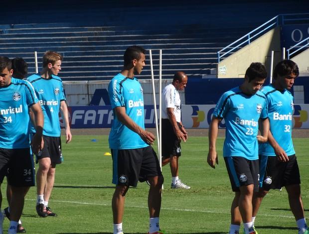 Treino do Grêmio no Olímpico (Foto: Tomás Hammes/Globoesporte.com)