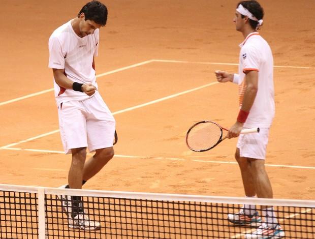 Melo e Bellucci no Brasil Open (Foto: Luiz Pires / Vipcomm)