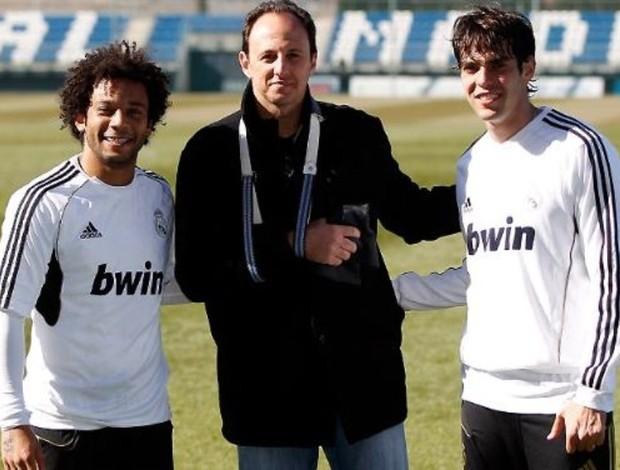 Rogério Ceni Kaká Marcelo Real Madrid (Foto: Real Madrid / Divulgação)