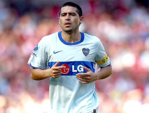Riquelme na partida do Boca Juniors (Foto: Getty Images)