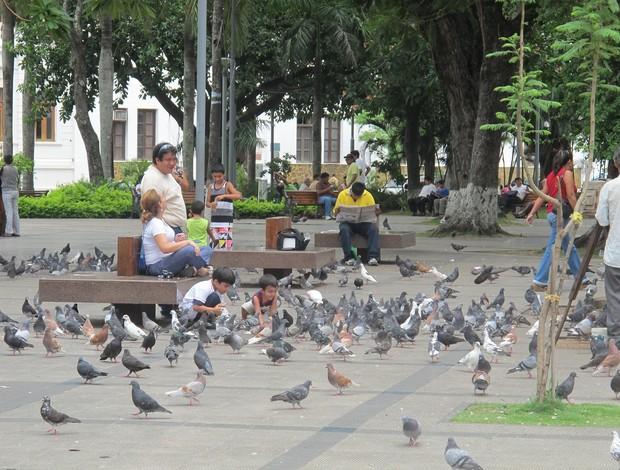 Santa Cruz de La Sierra - Santos (Foto: Marcelo Hazan, Globoesporte.com)