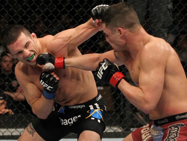 Jake Ellenberger luta com Diego Sanchez pelo UFC (Foto: Getty Images)
