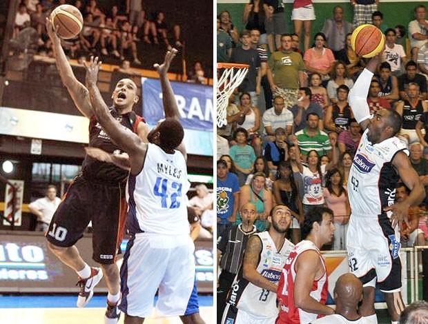 montagem Alex Jeff Agba basquete NBB (Foto: Editoria de Arte / GLOBOESPORTE.COM)
