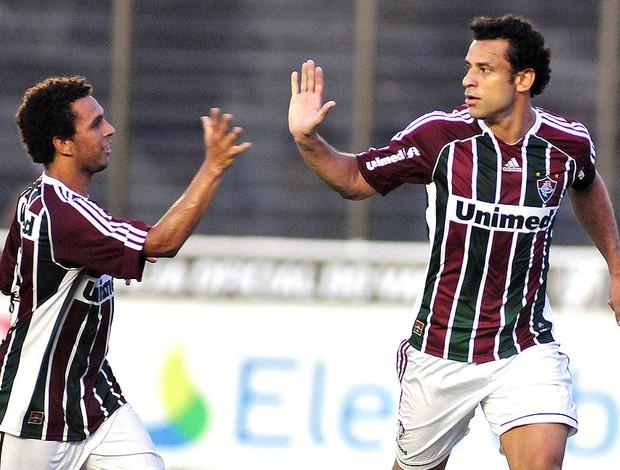 Fred comemora gol do Fluminense contra o Bangu (Foto: Agência Photocâmera)