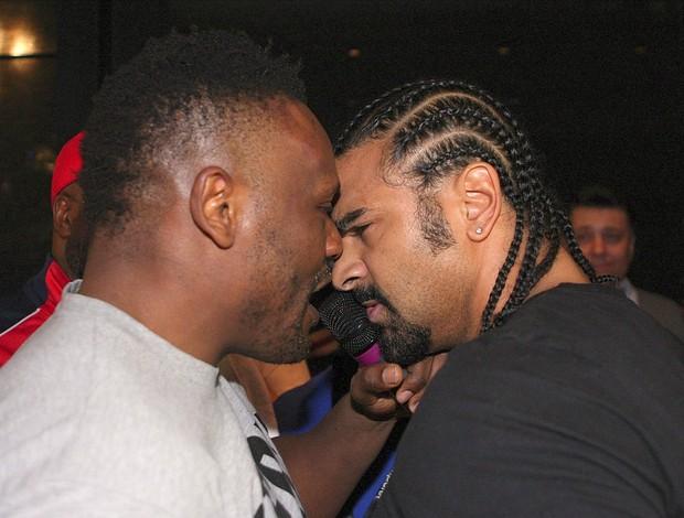 Dereck Chisora David Haye briga luta Munique (Foto: Reuters)