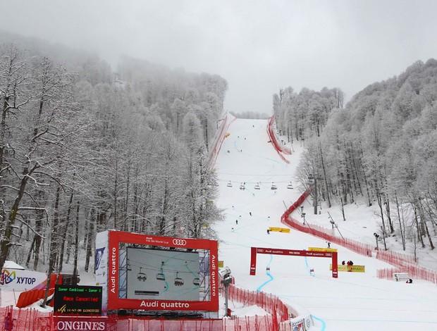 pista mundial de esqui alpino (Foto: Agência AP)