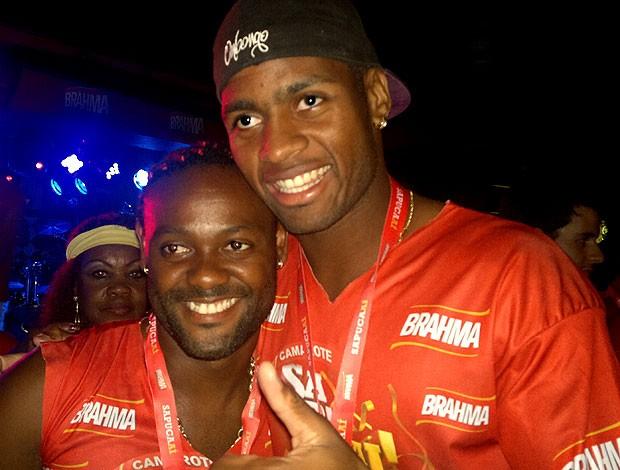 Dedé e Vagner Love no carnaval do Rio de Janeiro (Foto: Thiago Fernandes / GLOBOESPORTE.COM)