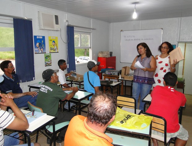 Sala de aula de Sebastião e Evaldo, funcionários do Mineirão (Foto: Lucas Catta Prêta / GLOBOESPORTE.COM)