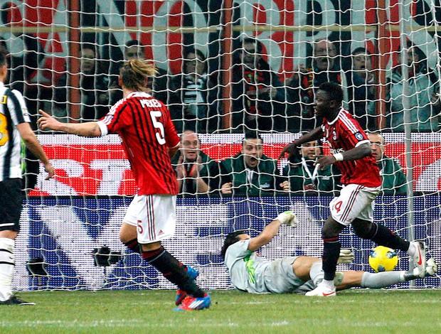 muntari milan gol anulado buffon juventus (Foto: Agência Reuters)