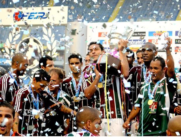 jogadores fluminense troféu taça guanabara (Foto: andré Durão / Globoesporte.com)