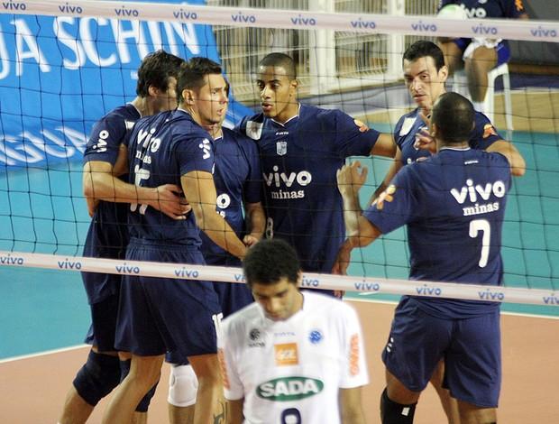 vôlei Minas x Cruzeiro (Foto: Alexandre Arruda / CBV)