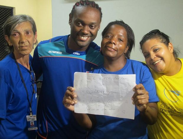 Love com Eunice (Foto: Richard de Souza / globoesporte.com)