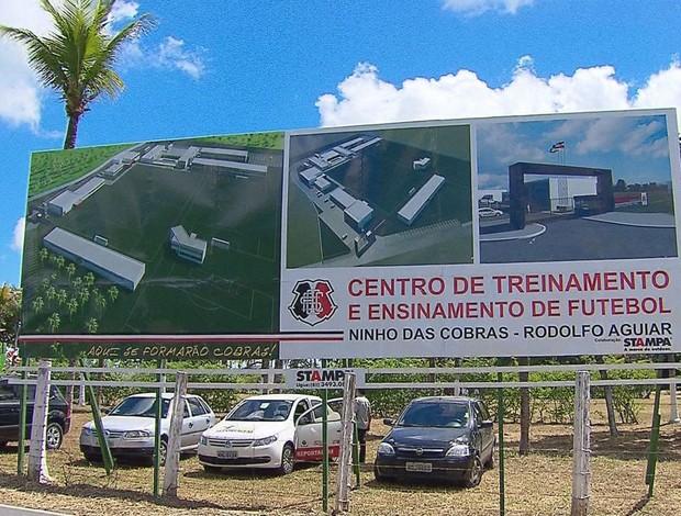 Centro de Treinamento do Santa Cruz (Foto: Reprodução / TV Globo)