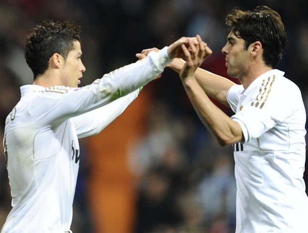 kaka cristiano ronaldo real madrid x espanyol (Foto: AFP)