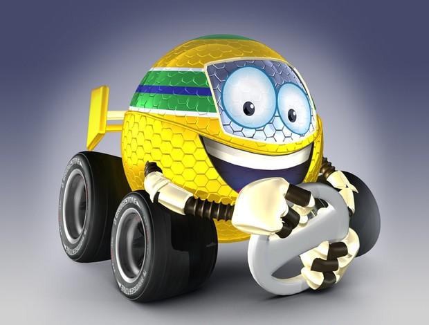 Mascote Esporte F-1 Fórmula 1  (Foto: Editoria de arte TV Globo)