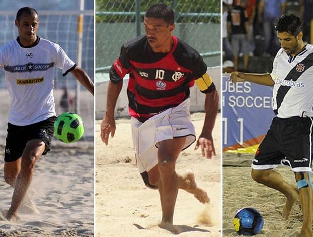 Madjer  Benjamin Jorginho Copa Brasil de futebol de areia  (Foto: Editoria de Arte/Globoesporte.com)