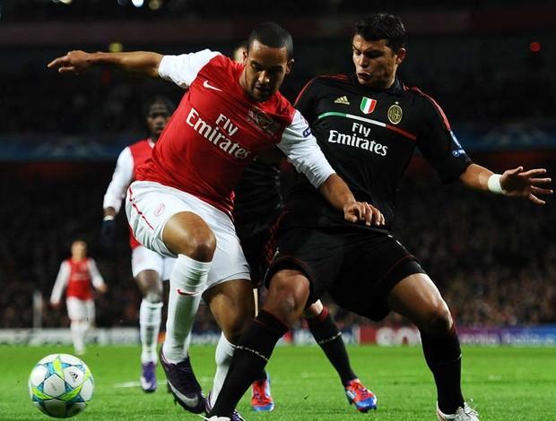 Thiago Silva walcott arsenal x milan (Foto: Getty Images)